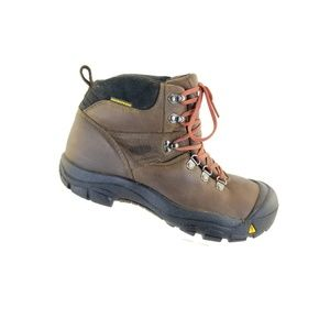 Keen Womens Brown Leather Lace Up Waterproof Hikin